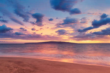 ocean sunset: Sunset on Hawaii Beach