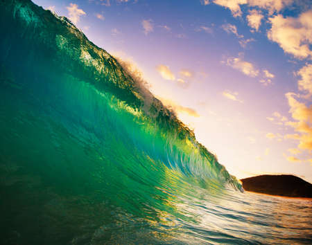 Beautiful Sunset Wave Stock Photo - 13542334