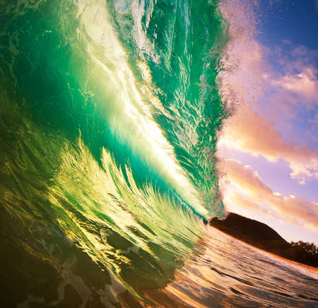 Beautiful Sunset Wave photo