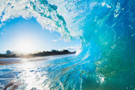 surfing wave: Blue Ocean Wave