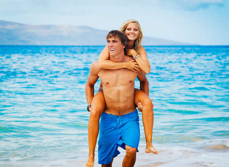 Attractive Couple on Beautiful Beach photo
