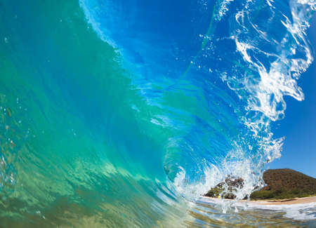 Beautiful Sunny Blue Wave Stock Photo - 13617034