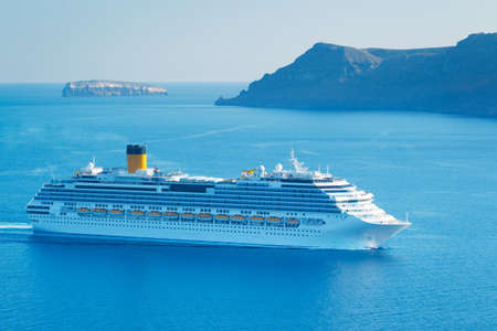 Luxury Cruise Ship, Sailing in the Mediterranean photo