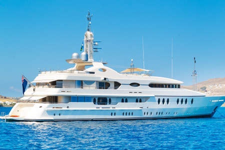 Luxury Yacht, Cruising in Ocean photo