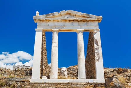 Greek Temple Ruins, Temple of Poseidon near Athens photo