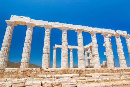 antigua grecia: Antiguo Templo griego ruinas Acrópolis Foto de archivo