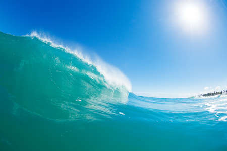 Blue Ocean Wave and Sunny Blue Sky photo