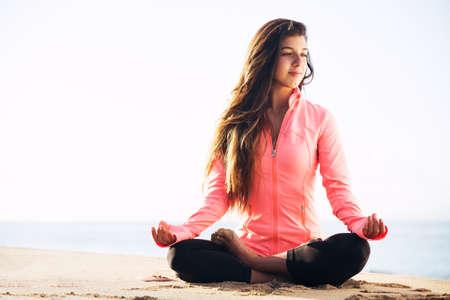 enlightment: Morning Yoga Meditation by the Beach