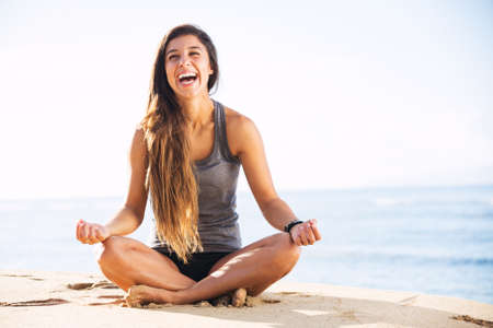 the wellbeing: Morning Yoga Meditation by the Beach