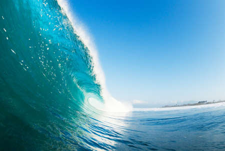 watersports: Tropical Blue Ocean Wave Stock Photo