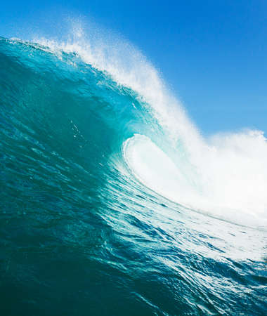 water wave: Tropical Blue Ocean Wave Stock Photo