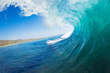 wave: Tropical Blue Ocean Wave Stock Photo