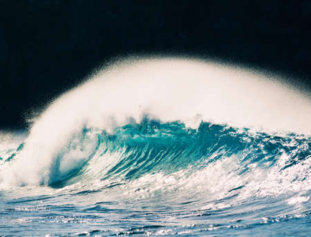 northshore: Tropical Blue Ocean Wave Stock Photo