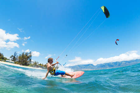 kiteboarding: Kite Surfing, Fun in the Ocean, Extreme Sport