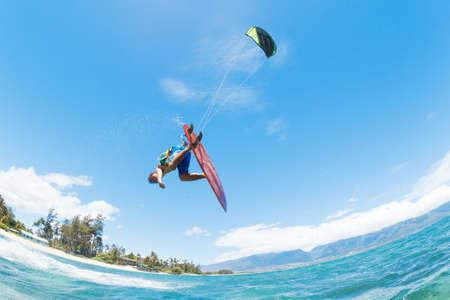 Kite Surfen, Fun in de Oceaan, Extreme Sport