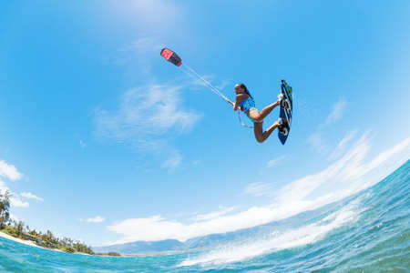 kite surfing: Kite Boarding, Fun in the ocean, Extreme Sport