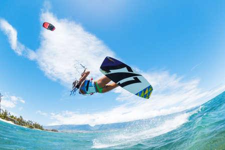 kite surfing: Kite Boarding, Fun in the ocean, Extreme Sport