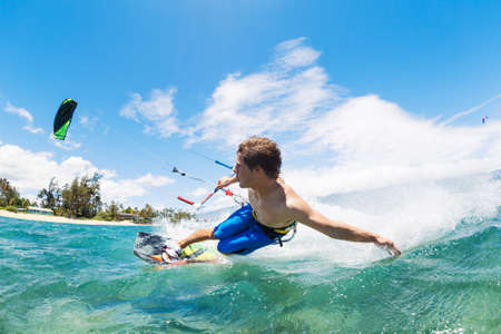 kiteboarding: Kite Boarding, Fun in the ocean, Extreme Sport