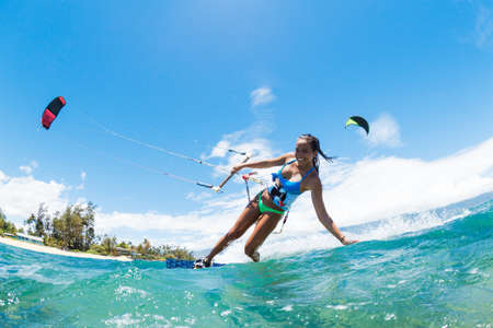 extremes: Kite Boarding, Fun in the ocean, Extreme Sport