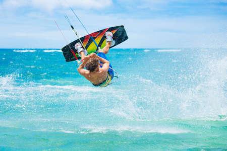 Kite Boarding, Fun in the ocean, Extreme Sport photo