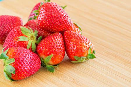 Healthy Organic Natural Strawberries Imagens