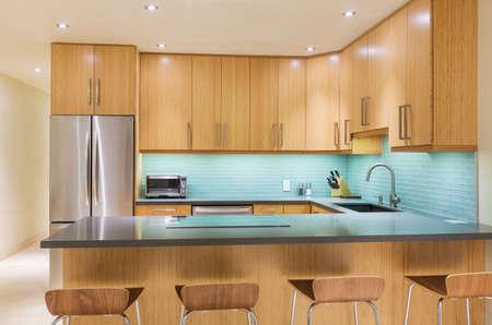 kitchen furniture: Modern Kitchen Interior Design Architecture  Stock Photo