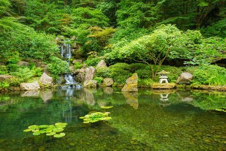 Bella giapponese Zen Garden Archivio Fotografico - 21578413