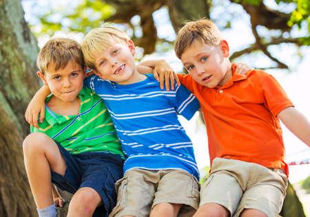 best: Best Friends, Happy Kids, Friendship Concept Stock Photo