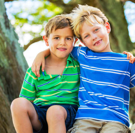 best: Happy Young Kids, Best Friends