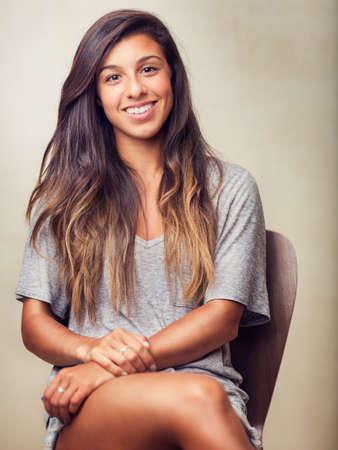 ravishing: Portrait of Beautiful Young Woman Smiling