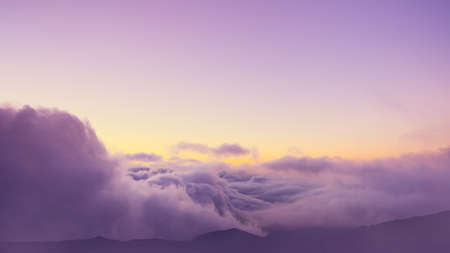 View Above the Clouds, Beautiful Sunset Cloudscape Stock Photo - 22565661