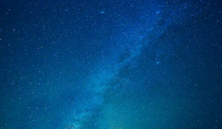 Milky way stars at night Banco de Imagens