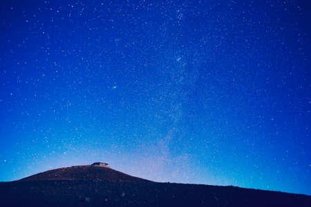 milky: Milky way stars at night Stock Photo
