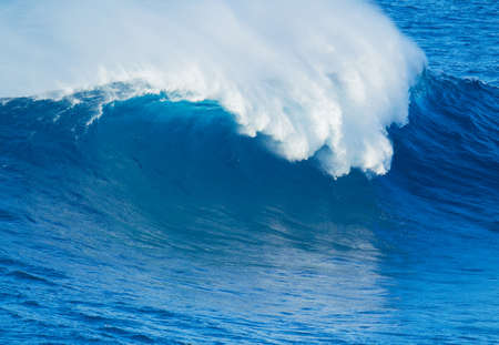 jaw: Giant Blue Ocean Wave Stock Photo