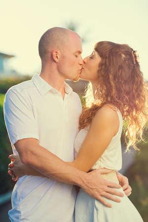 Happy romantic couple in love