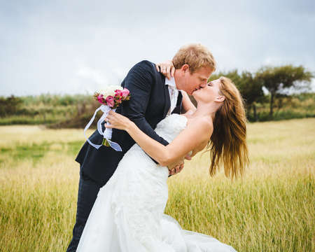 married couples: Wedding. Bride and Groom Stock Photo
