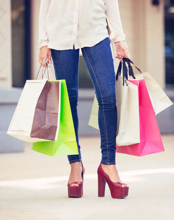 Attractive Young Woman Shopping At The Mall Photo