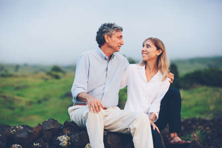 Happy loving middle aged couple photo