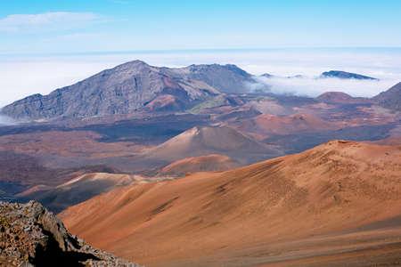 attraktion: Haleakala Volcano Crater in Haleakala National Park, Hawaii