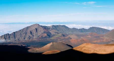 singular: Haleakala Volcano Crater in Haleakala National Park, Hawaii