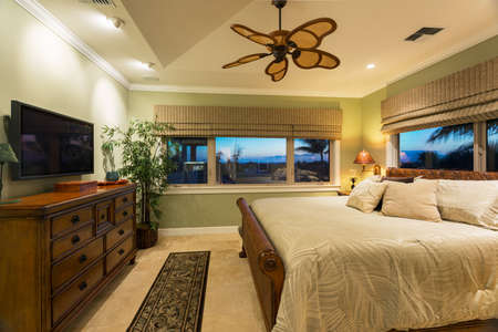 Beautiful Bedroom Interior in New Luxury Home, Interior Design photo