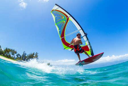 바다에서 윈드 서핑, 재미, 익스 트림 스포츠