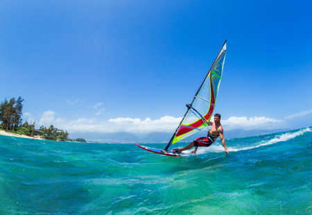 kite surfing: Windsurfing, Fun in the ocean, Extreme Sport