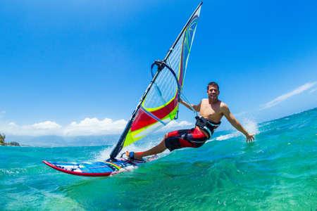 윈드 서핑, 바다, 익스트림 스포츠의 재미