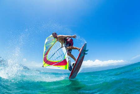 Windsurfen, Spaß im Ozean, Extremsport