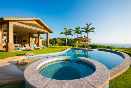 luxury house: Luxury home with swimming pool
