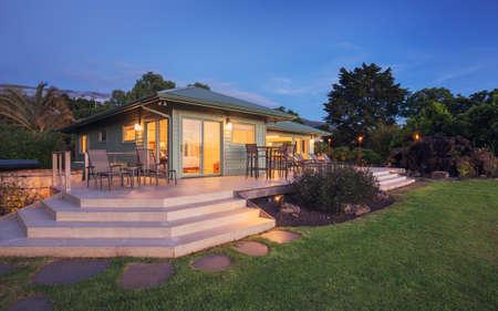 Beautiful home at sunset Archivio Fotografico
