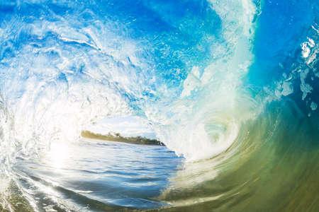 Crashing Blue Ocean Wave photo