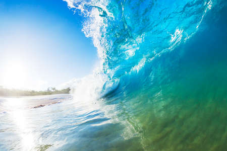 Crashing Blue Ocean Wave photo