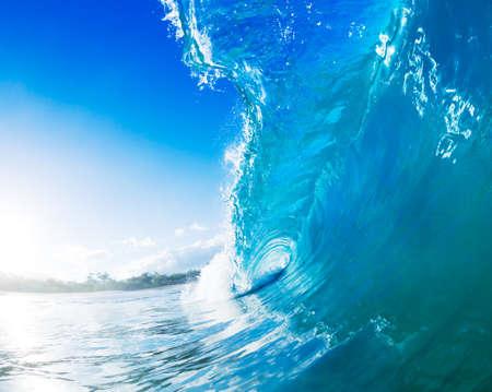 vague: Bleu Ocean Wave Banque d'images